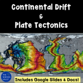 Continental Drift & Plate Tectonics Powerpoint includes An