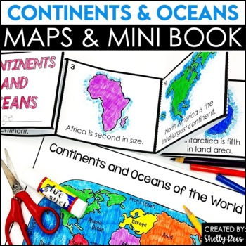 Continents and Oceans Foldable Booklet