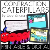 Contraction Caterpillar Craftivity