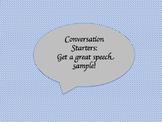 Conversation Starters: Speech Sample Topics