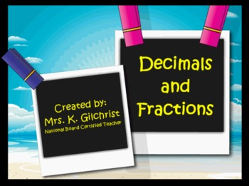 Converting Decimals to Fractions Promethean Flipchart Lesson