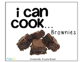Cooking Visual Recipe: Brownies Special Education SymbolSt