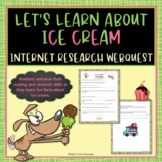 Ice Cream Treats Webquest Internet Scavenger Hunt Common Core