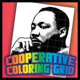 Cooperative Grid Art Project - Martin Luther King Jr.