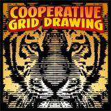 Cooperative Grid Art Project - Tiger