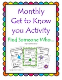 Cooperative Learning - Find Someone Who... A Get to Know Y