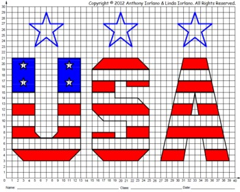 Coordinate Graphing (Memorial Day / Veteran's Day / USA)