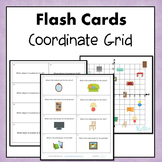 Coordinate Grid 4 Quadrant Flash Cards or Task Cards