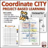 Math Coordinates Graphing City Activity and Project