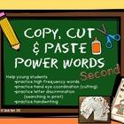 Copy, Cut, & Paste Power Words - Second Grade