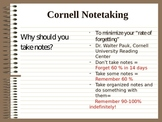 Cornell or Double Entry Note Presentation/Instructions