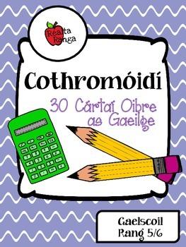 Cothromóidí : 30 Cártaí Oibre as Gaeilge // Equations : 30