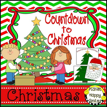 Christmas Activity ~ Christmas Tree and Santa Countdown to