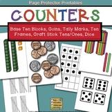 Counters Coins, Base Ten Blocks, Tally Marks, Ten Frames,