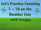 Counting 1 - 100 on the Number Line with Froggy the Frog