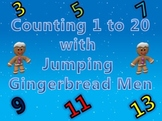 Counting 1 to 20 Activity with Fun Jumping Gingerbread Men