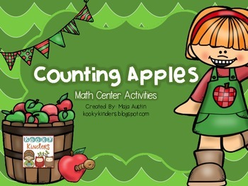 Counting Apples Math Center Activities