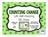 Counting Change Task Cards - With Self Checking QR Codes [FREE]