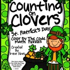 Counting On Clovers ~ St. Patrick's Day Color By The Code