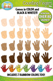 Counting Pointing Fingers Clip Art Set — Over 35 Graphics!