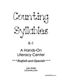 Counting Syllables Literacy Center in English and Spanish