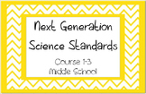 Course 1-3 Next Generation Science Standards Middle School