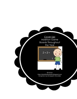Cover Up Addition Math Game Boards for All Year Round