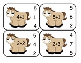 Cowboy Addition Clip Card Math Center