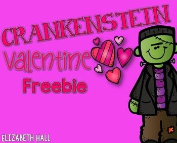 Crankenstein Valentine {Freebie}