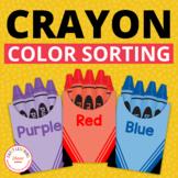 Color Sorting: Interactive Crayon Color Sort Activity for