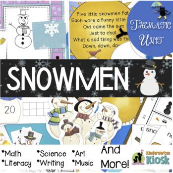 Snowmen Unit: Thematic Common Core Curricular Essentials