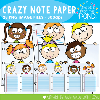 Crazy Note Paper Kids