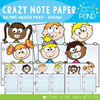 Crazy Note Paper Kids