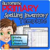Primary Automatic Spelling Inventory Template