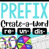 Create-a-Word Prefix Game for Review (re, dis, un)
