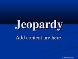 Create your own Jeopardy Game Template