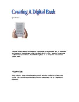 Creating A Digital Book