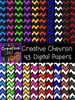 Creative Chevron Papers {Creative Clips Digital Clipart}