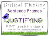 Critical Thinking Language Sentence Frames {Say What?}  Al