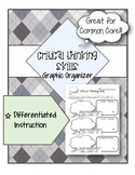 Critical Thinking Skills Graphic Organizer - Differentiate