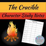Crucible Character Study Notes Sheet