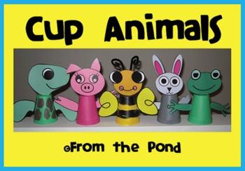 Cup Animals - 5 Animal Foam Cup Craftivities