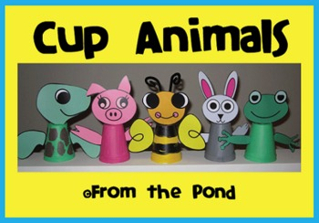 Cup Animals - 5 Animal Foam Cup Craftivities