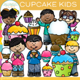 Cupcake Kids Clip Art