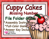 Cuppy Cakes Missing Number File Folder Game