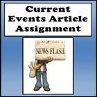 Current Events Article Assignment