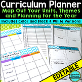 Curriculum Planning Calendar & Templates EDITABLE {Maps,Pa
