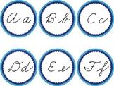 Cursive Word Wall Blue Labels Headers Winter Ocean Sea