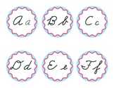 Cursive Word Wall Headers Blue and Red Dr. Seuss