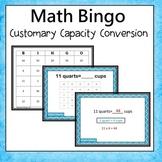 Customary Capacity Conversion Bingo